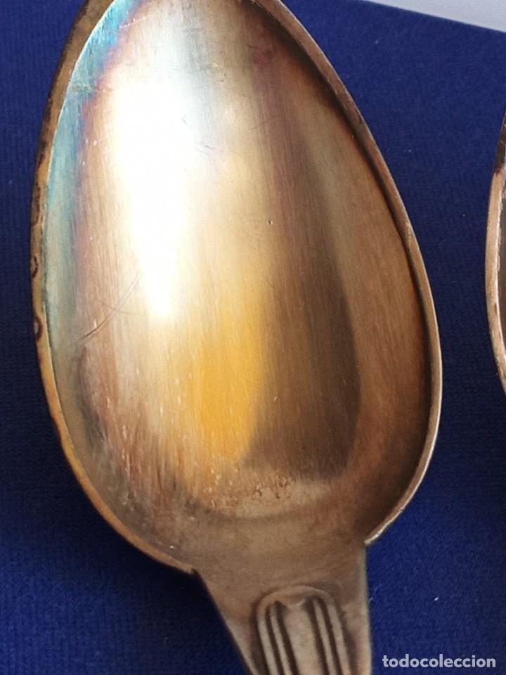 Antigüedades: Cuatro cucharas viejas, 1870, de Inglaterra, plateado - Foto 7 - 247515230