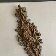 Antigüedades: GRAN ADORNO DE BRONCE. 32X12 CM. 671 GRAMOS. Lote 247539630