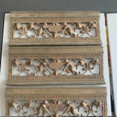 Antigüedades: ADORNOS DE CHIMENEA. 3 PIEZAS EN BRONCE. 90 CM. Lote 247540690