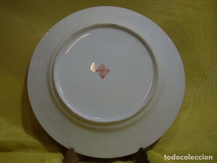 Antigüedades: Plato decorativo porcelana China, pintado a mano, años 80, Nuevo sin usar. - Foto 3 - 247678720