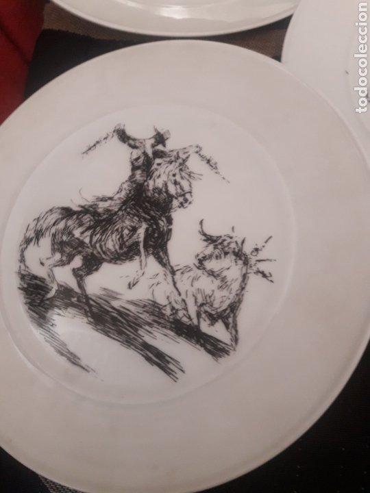 Antigüedades: Cinco platos taurinos de Porcelana Bidasoa, dibujos de Antonio Casero - Foto 3 - 247692255