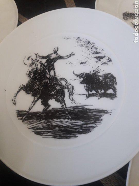 Antigüedades: Cinco platos taurinos de Porcelana Bidasoa, dibujos de Antonio Casero - Foto 4 - 247692255