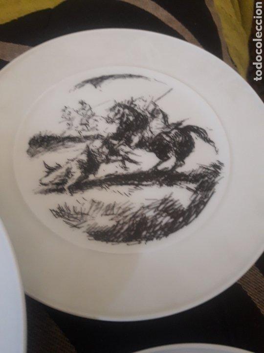 Antigüedades: Cinco platos taurinos de Porcelana Bidasoa, dibujos de Antonio Casero - Foto 5 - 247692255