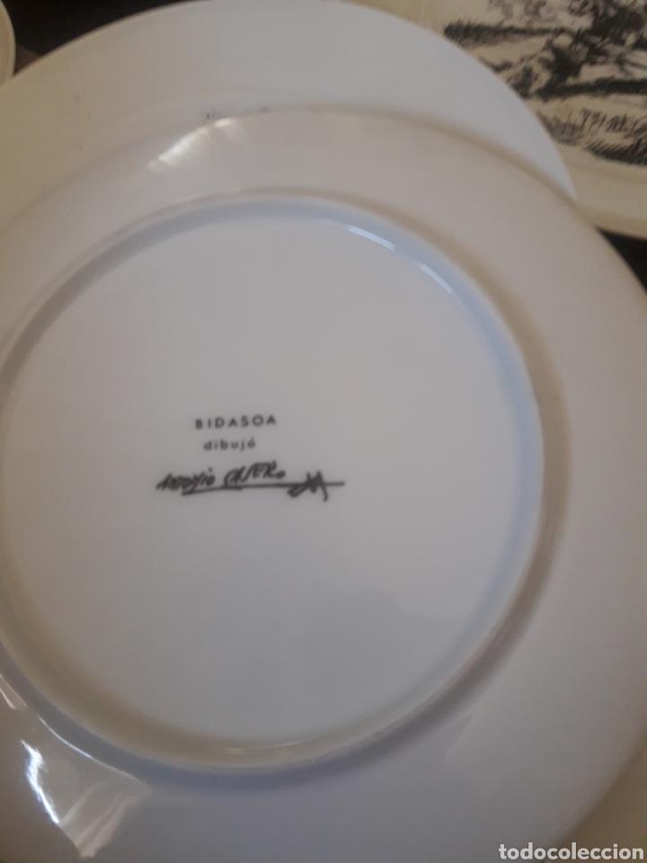 Antigüedades: Cinco platos taurinos de Porcelana Bidasoa, dibujos de Antonio Casero - Foto 7 - 247692255