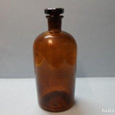 Antiquités: BOTELLA CRISTAL LABORATORIO O FARMACIA COLOR AMBAR. Lote 247693445