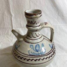 Antiquités: VINAGRERA EN CERÁMICA AZUL Y MANGANESO DE TERUEL, S XVIII. Lote 247696450