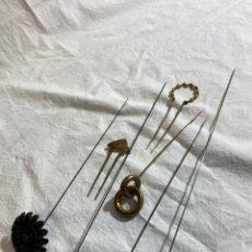 Antigüedades: LOTE DE 7 AGUJAS DE SOMBRERO ANTIGUAS. Lote 247697175