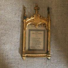 Antigüedades: ANTIGUA SACRA RELIGIOSA REALIZADA EN BRONCE. S.XIX.. Lote 247720575