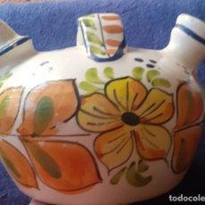 Antigüedades: BOTIJO DE CERAMICA VALENCIANA,PINTADO. Lote 247768140