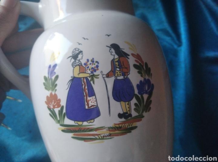 Antigüedades: Jarra cerámica pintada Bretaña francesa - Foto 4 - 247785255