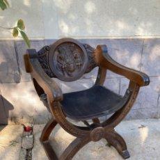 Antiquités: PRECIOSO SILLON ANTIGUO TALLADO A MANO!. Lote 247924610