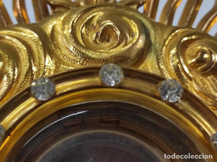 Antigüedades: Preciosa Custodia Neogótica - en Plata y Bronce Cincelado - con Caja Original - Altura 64 cm - S.XIX - Foto 23 - 247928685