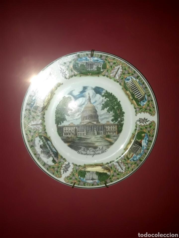 Antigüedades: PLATO DE PORCELANA WASHINGTON - Foto 2 - 247972990