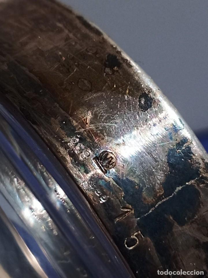 Antigüedades: Jarrón de cristal con tapa de plata 835, Alemania,Anos 1960 - Foto 3 - 247992245