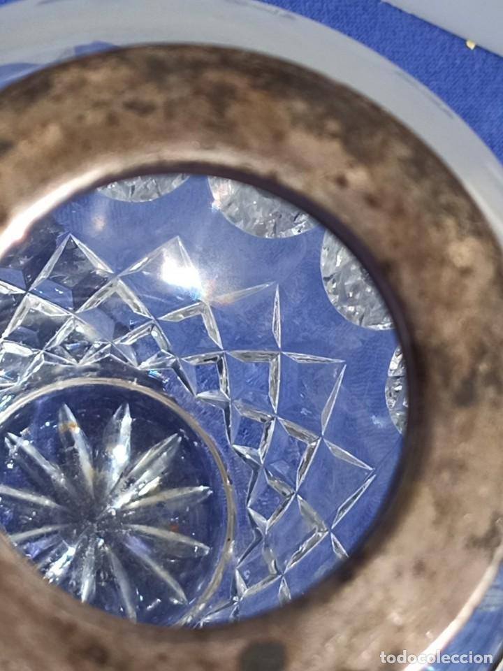 Antigüedades: Jarrón de cristal con tapa de plata 835, Alemania,Anos 1960 - Foto 4 - 247992245