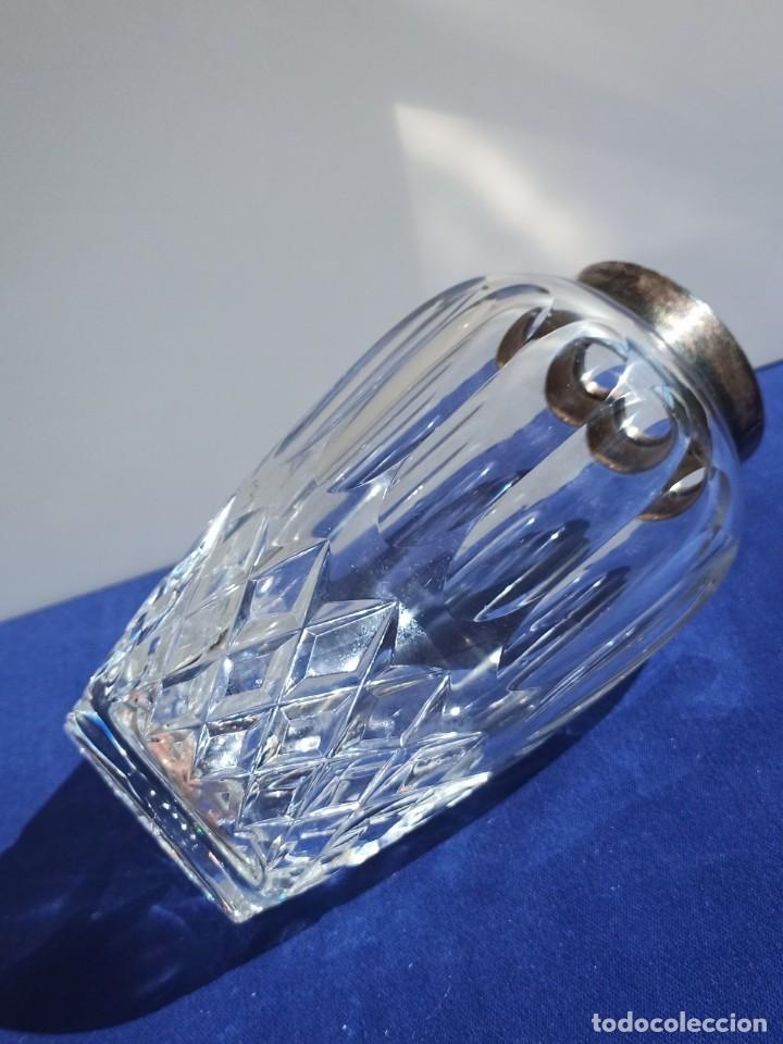 Antigüedades: Jarrón de cristal con tapa de plata 835, Alemania,Anos 1960 - Foto 5 - 247992245
