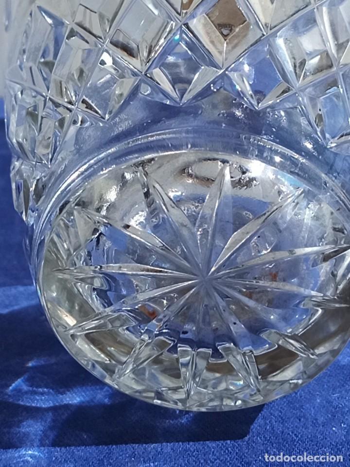 Antigüedades: Jarrón de cristal con tapa de plata 835, Alemania,Anos 1960 - Foto 6 - 247992245
