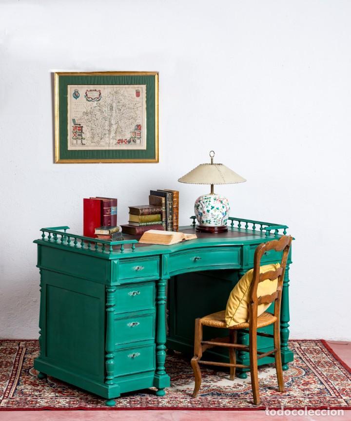 ESCRITORIO ANTIGUO RESTAURADO AURELIE (Antigüedades - Muebles Antiguos - Escritorios Antiguos)