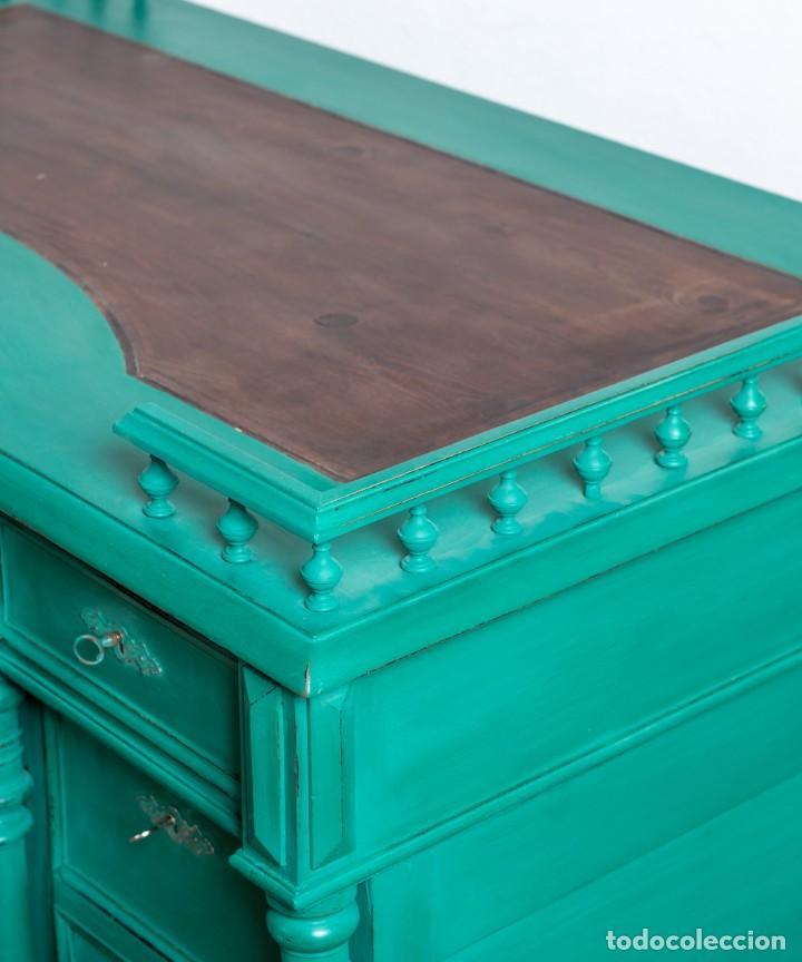 Antigüedades: Escritorio Antiguo Restaurado Aurelie - Foto 8 - 248030425