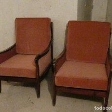 Antigüedades: BUTACAS DE MADERA DE HAYA. Lote 248080845