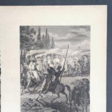 Antigüedades: GRABADO DE DON QUIJOTE. DIBUJADO POR B. MONTAÑES Y GRABADO POR P. HORTIGOSA. Lote 248081185