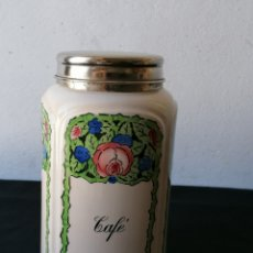 Antigüedades: TARRO DE CERÁMICA MODERNISTA CAFE. Lote 248081435