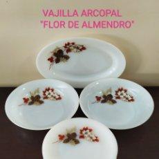 """Antigüedades: VAJILLA ARCOPAL """"FLOR DE ALMENDRO"""". 14 PIEZAS. SELLADAS.. Lote 248087335"""