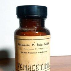 Antiquités: FRASCO ANTIGUO DE FARMACIA FENACETINA. Lote 248104080