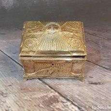 Antigüedades: JOYERO DE METAL BAÑO DE PLATA. Lote 248118930