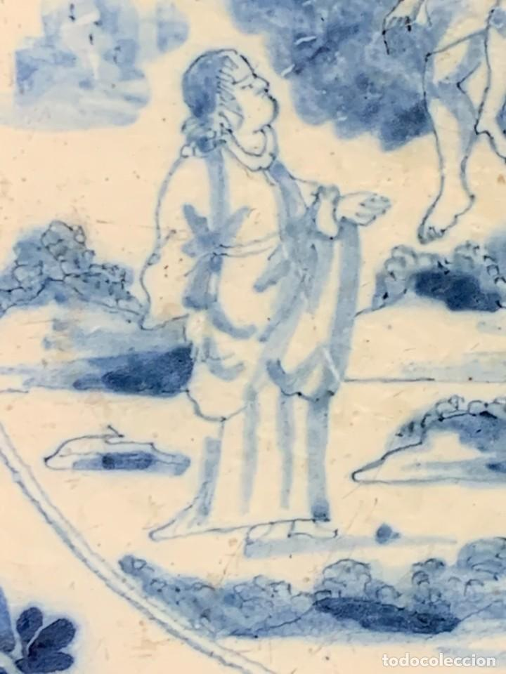 Antigüedades: RARA PLACA CERAMICA AZULEJO DELFT HOLANDA S XVIII MOTIVO RELIGIOSO RESURRECCION CRISTO SEÑOR 13X13CM - Foto 4 - 248128670
