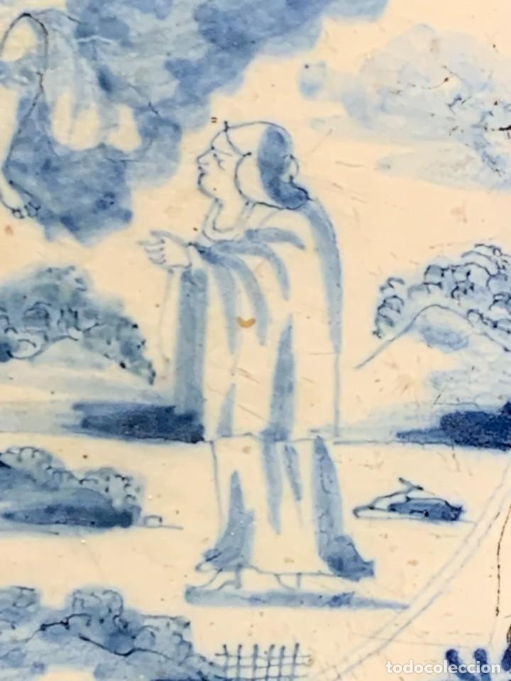 Antigüedades: RARA PLACA CERAMICA AZULEJO DELFT HOLANDA S XVIII MOTIVO RELIGIOSO RESURRECCION CRISTO SEÑOR 13X13CM - Foto 6 - 248128670