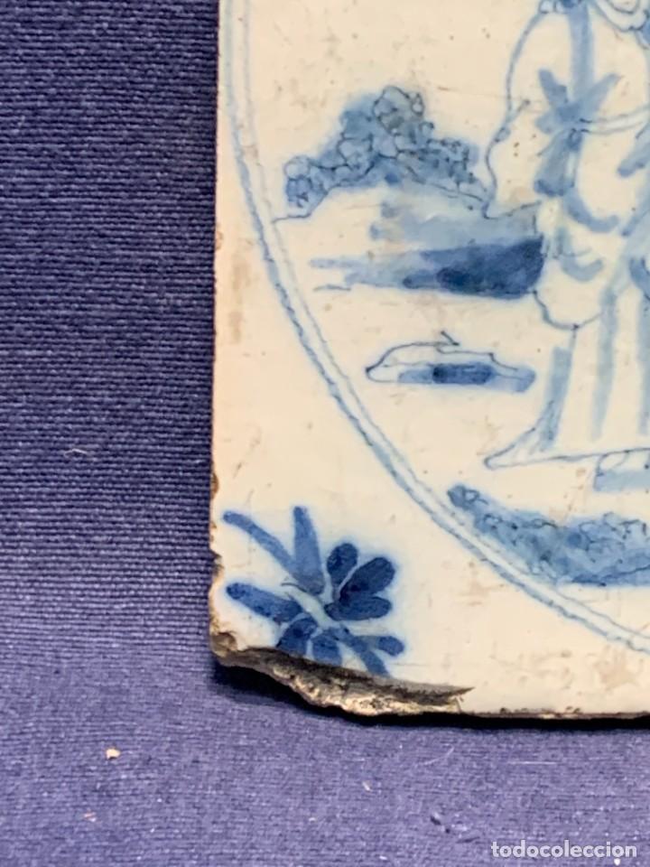 Antigüedades: RARA PLACA CERAMICA AZULEJO DELFT HOLANDA S XVIII MOTIVO RELIGIOSO RESURRECCION CRISTO SEÑOR 13X13CM - Foto 9 - 248128670
