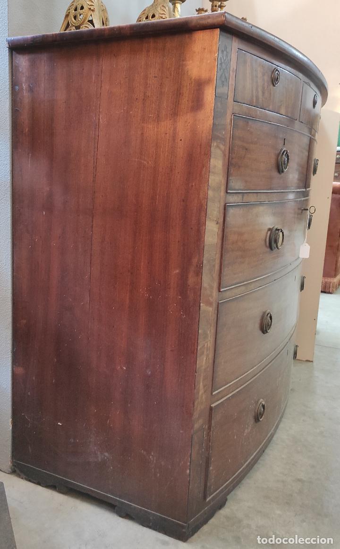 Antigüedades: Cómoda Victoriana, Inglaterra - Madera de Caoba y Ébano - Tiradores Originales - S. XIX - Foto 12 - 248130265
