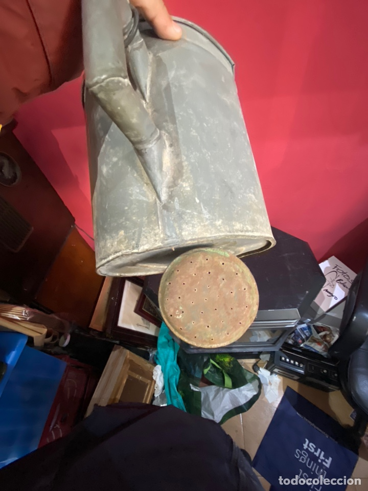 Antigüedades: Rara y ANTIGUA REGADERA DE ZINC, EN BUEN ESTADO DE CONSERVACION . PRINCIPIO SGLO XX - Foto 5 - 248137315