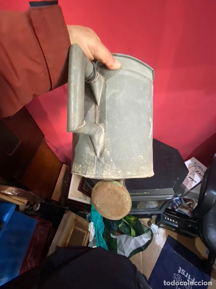 Antigüedades: Rara y ANTIGUA REGADERA DE ZINC, EN BUEN ESTADO DE CONSERVACION . PRINCIPIO SGLO XX - Foto 6 - 248137315