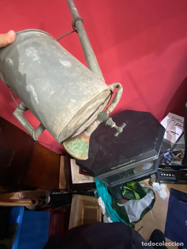 Antigüedades: Rara y ANTIGUA REGADERA DE ZINC, EN BUEN ESTADO DE CONSERVACION . PRINCIPIO SGLO XX - Foto 8 - 248137315