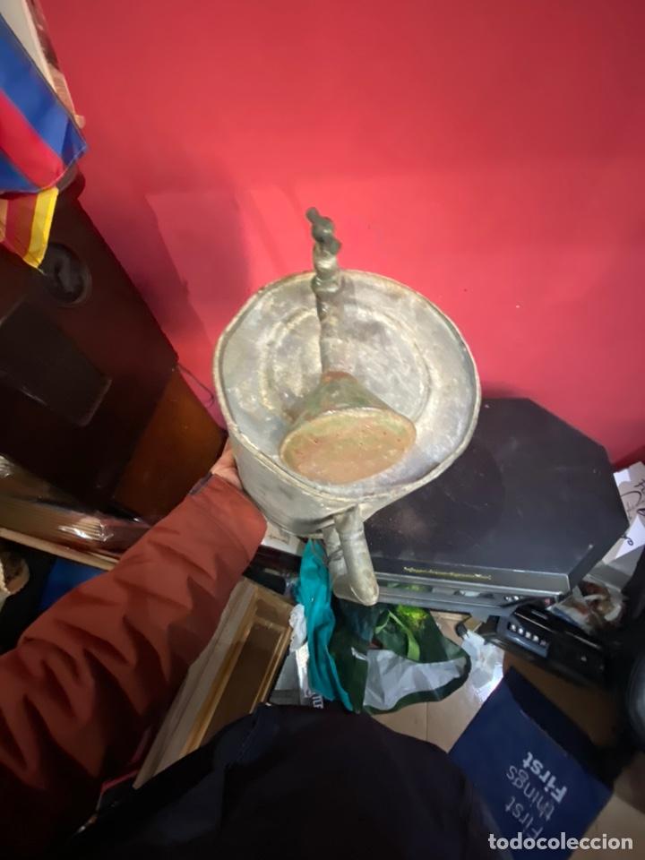Antigüedades: Rara y ANTIGUA REGADERA DE ZINC, EN BUEN ESTADO DE CONSERVACION . PRINCIPIO SGLO XX - Foto 11 - 248137315