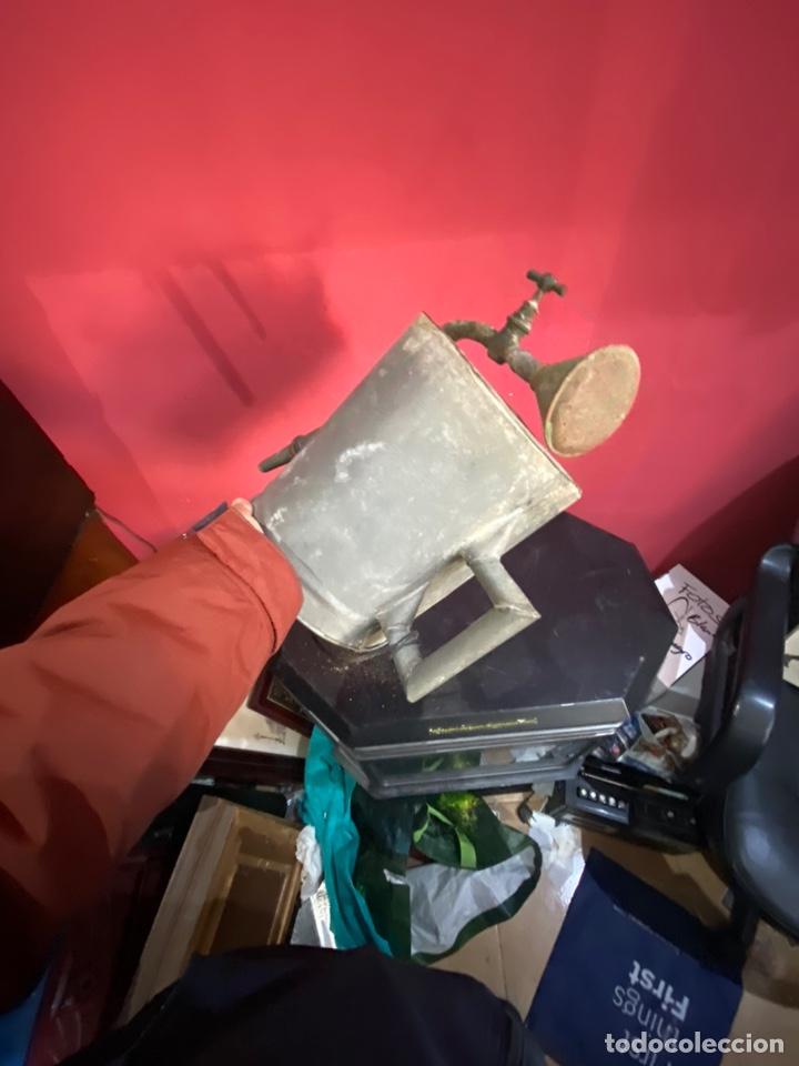 Antigüedades: Rara y ANTIGUA REGADERA DE ZINC, EN BUEN ESTADO DE CONSERVACION . PRINCIPIO SGLO XX - Foto 12 - 248137315