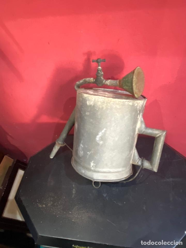Antigüedades: Rara y ANTIGUA REGADERA DE ZINC, EN BUEN ESTADO DE CONSERVACION . PRINCIPIO SGLO XX - Foto 13 - 248137315