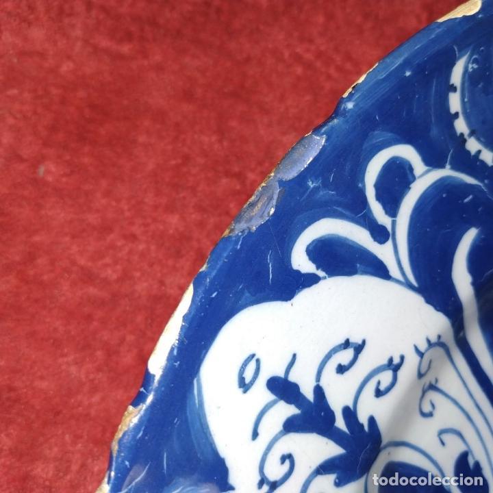 Antigüedades: PLATO. LOZA ESMALTADA DE DELFT. CON MARCAS WVDB. HOLANDA. SIGLO XVIII - Foto 3 - 248153985