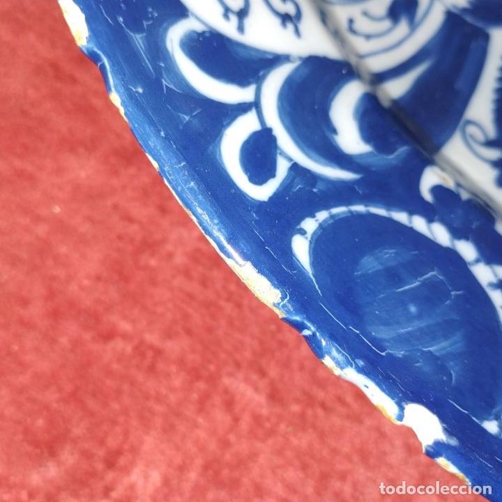 Antigüedades: PLATO. LOZA ESMALTADA DE DELFT. CON MARCAS WVDB. HOLANDA. SIGLO XVIII - Foto 8 - 248153985