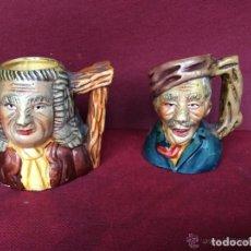 Antigüedades: ANTIGUAS JARRAS EN CERÁMICA ,REPRESENTANDO PERSONAJES. Lote 248156875