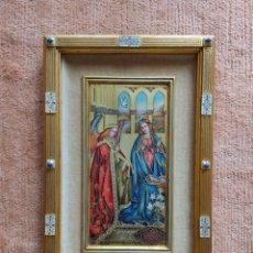 Antigüedades: PRECIOSO ESMALTE DE CUADRO DE LA ANUNCIACION DE JAN VAN EYCK (1390-1441), MODEST MORATO.. Lote 248171725