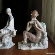 Antigüedades: PAREJA DE FIGURAS DE LLADRÓ DE LOS AÑOS 70-80.. Lote 248204250