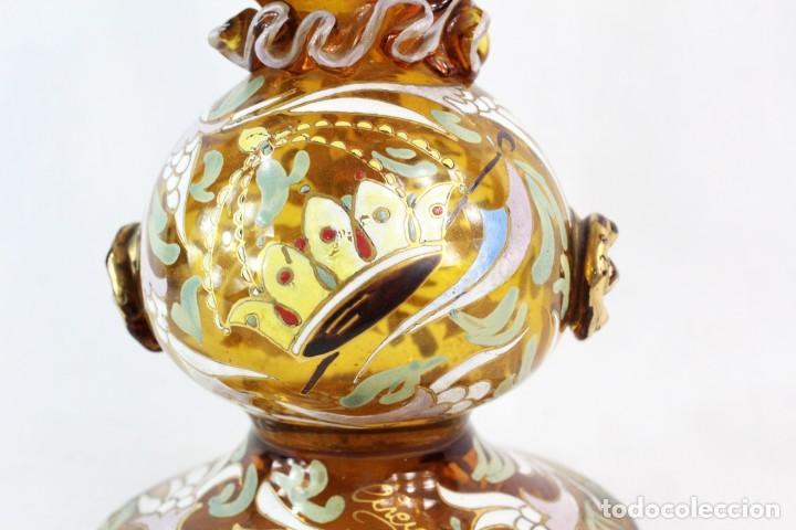 Antigüedades: Gran y único porrón o jarra en cristal soplado y esmaltado. Genís Cirera. (1890-1970) 39x20cm - Foto 5 - 248222280