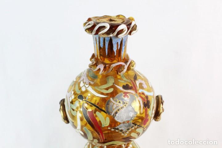Antigüedades: Gran y único porrón o jarra en cristal soplado y esmaltado. Genís Cirera. (1890-1970) 39x20cm - Foto 6 - 248222280