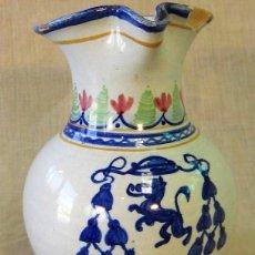Antigüedades: JARRA DE CERAMICA CON ESCUDO MONASTERIO DE YUSTE. Lote 248228515