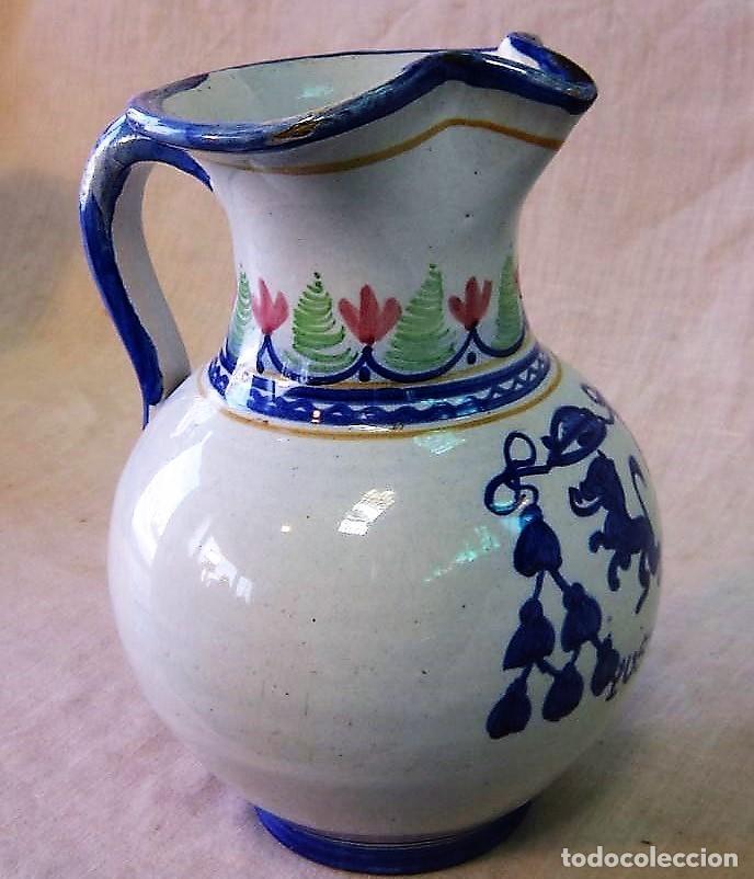 Antigüedades: JARRA DE CERAMICA CON ESCUDO MONASTERIO DE YUSTE - Foto 2 - 248228515