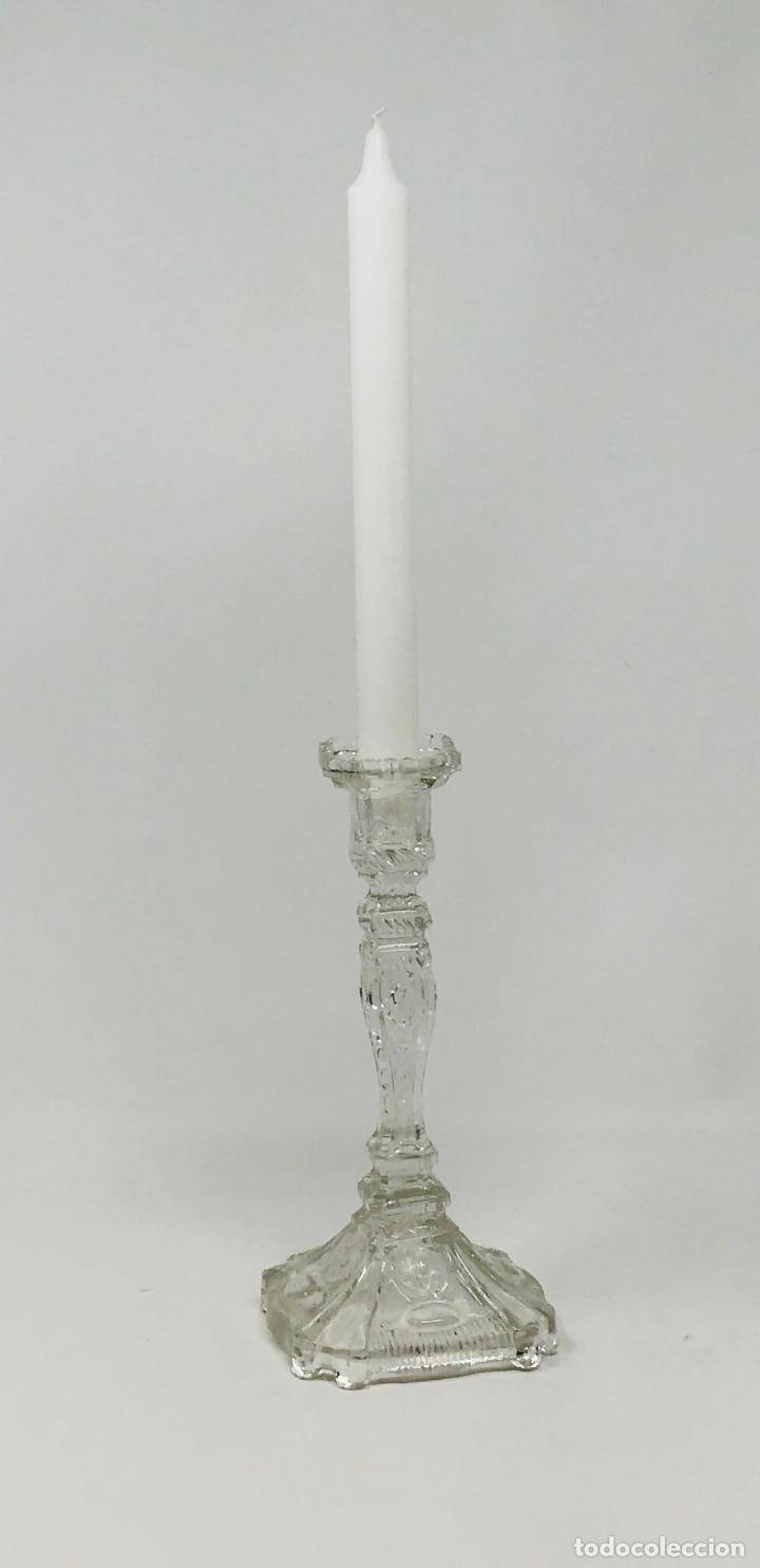 Antigüedades: Candelabro de cristal Huertano Santa Lucía-SXIX - Foto 23 - 140618530