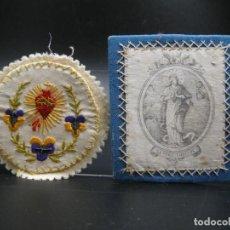 Antigüedades: DETENTE Y PARTE DE ESCAPULARIO. Lote 248276470